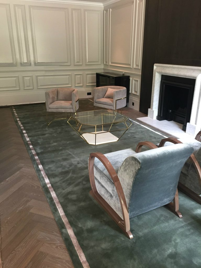 Custom wool & silk rug